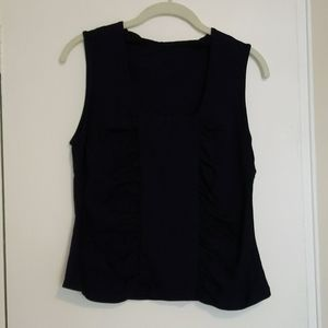 Navy blue corseted tank top